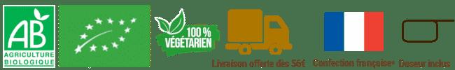 logos fiche produit vegetarien