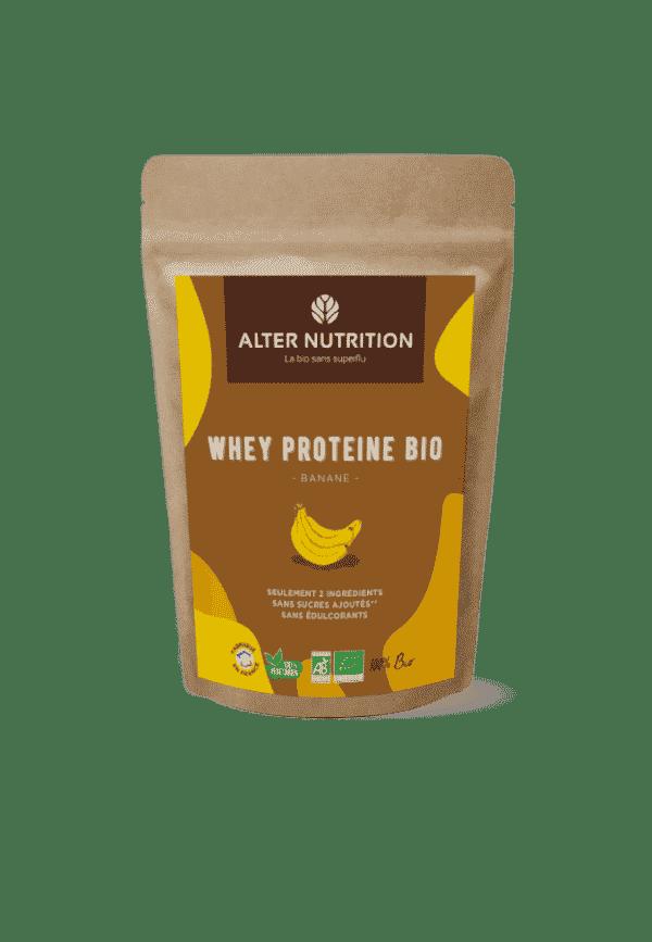 proteine de whey bio saveur Banane