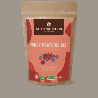 whey proteine bio aux fruits rouges