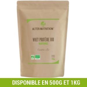 whey protein bio alter nutrition 1kg et shaker