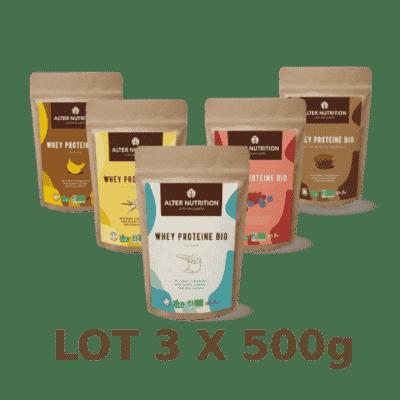 Whey Protéine BIO 3x500g