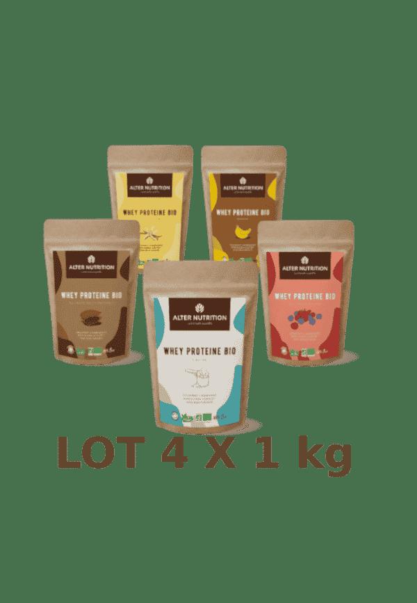 Proteine Whey Bio lot de 4 x 1kg