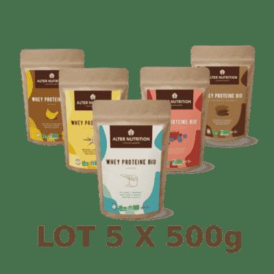 Whey Protéine BIO 5x500g