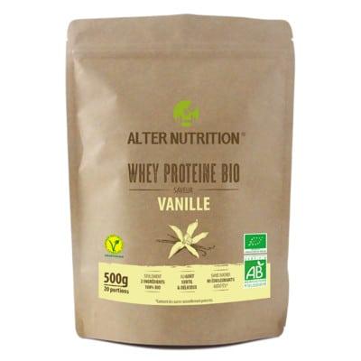 whey proteine en poudre bio vanille