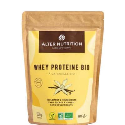 whey proteine en poudre bio vanille 500g r