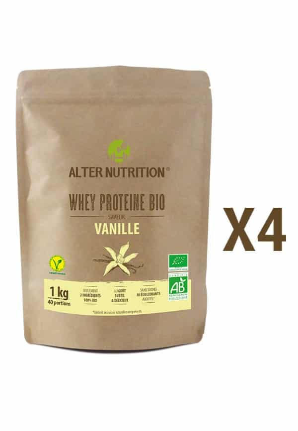 whey proteine bio lot de 4 x1kg grand