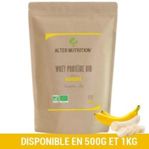 proteine de whey bio banane alter nutrition