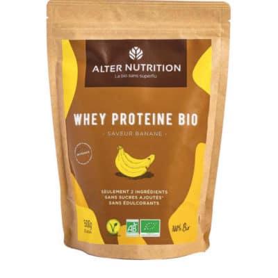 proteine whey bio banane