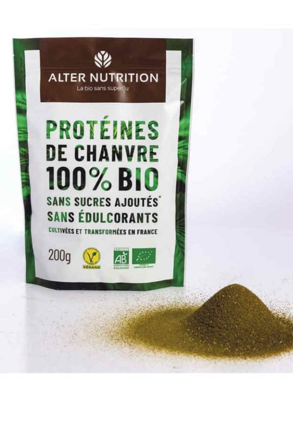 proteines de chanvre bio poudre