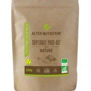 proteines vegetales bio supermix pois riz bio 500g