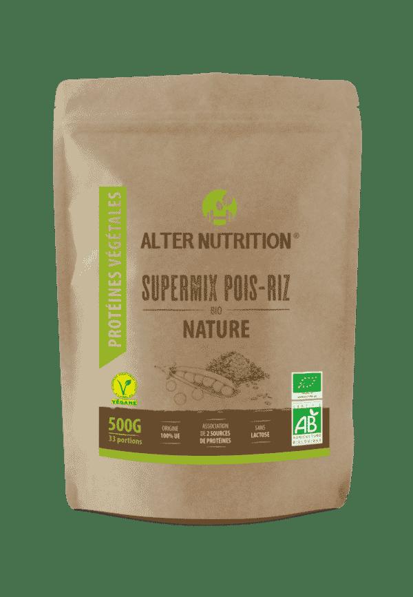 proteines vegetales supermix pois riz bio 500g recto