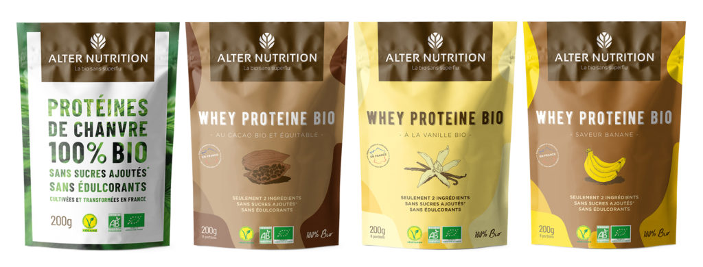 nouveaux packagings la bio sans superflu alter nutrition