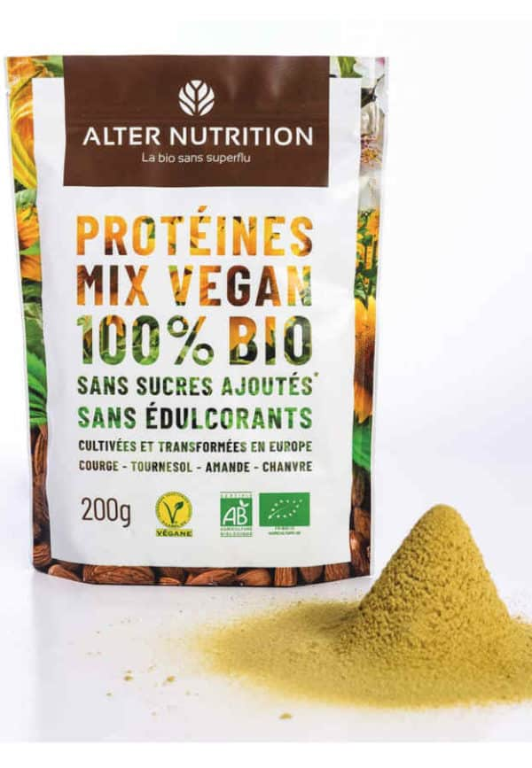 proteines mix vegan bio poudre