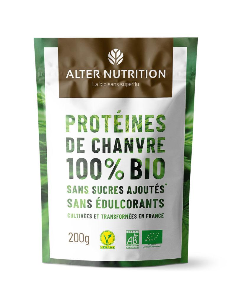protéines végétales bio chanvre cultivé en France
