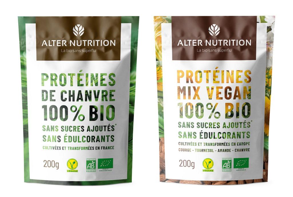 Protéines de chanvre et protéines mix vegan bio