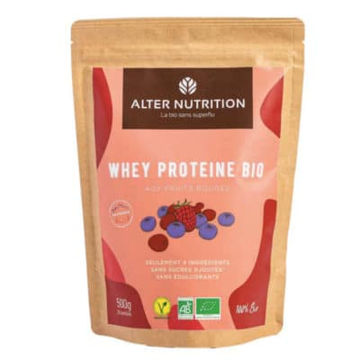 whey proteine bio fruits rouges v
