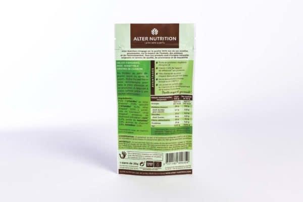barre protéinée pocket barre amande noix noisettes graines de chanvre