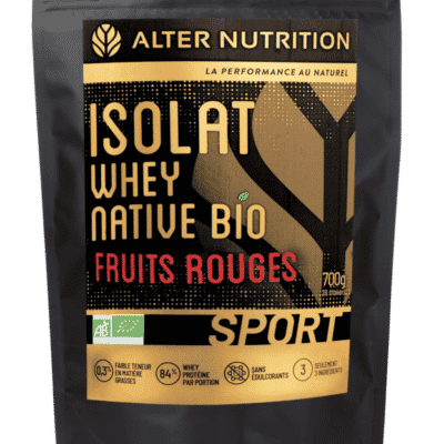 isolat whey native bio fruits rouges