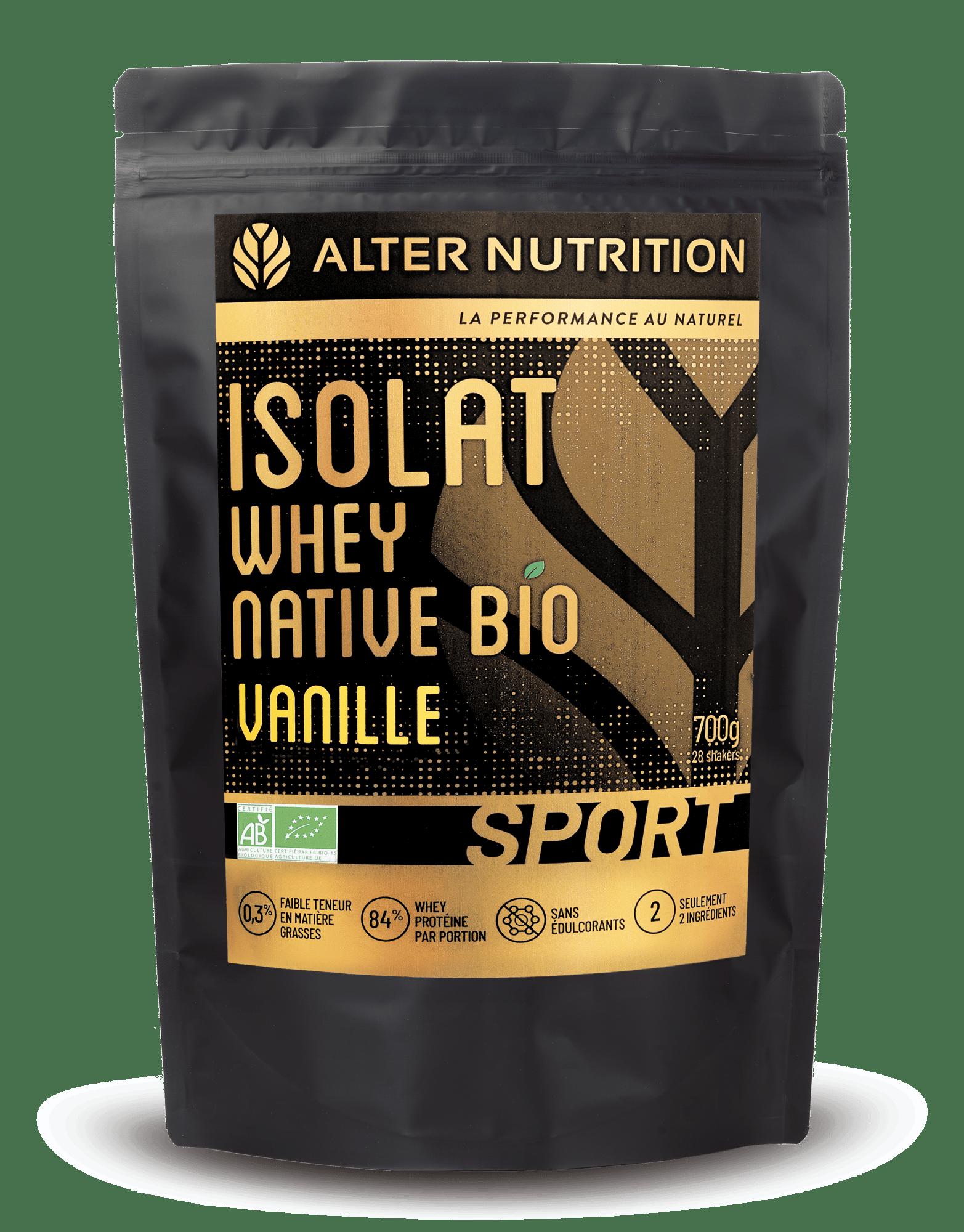 Isolat whey native bio Alter Nutrition