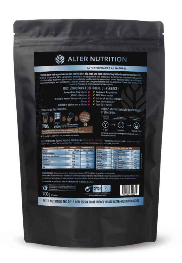 proteine native bio sans lactose cacao dos