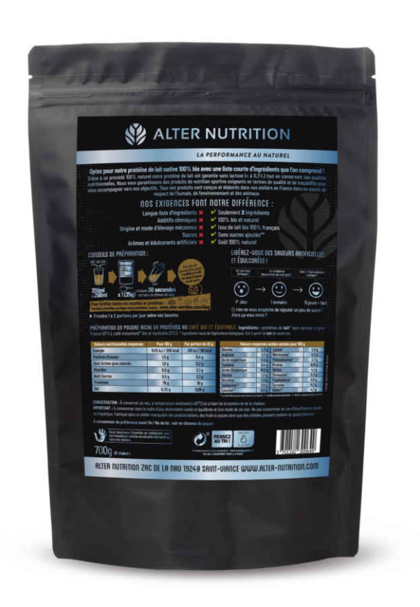 proteine native bio sans lactose cafe verso