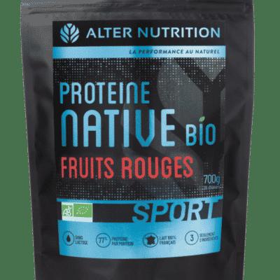 proteine native bio sans lactose fruits rouges