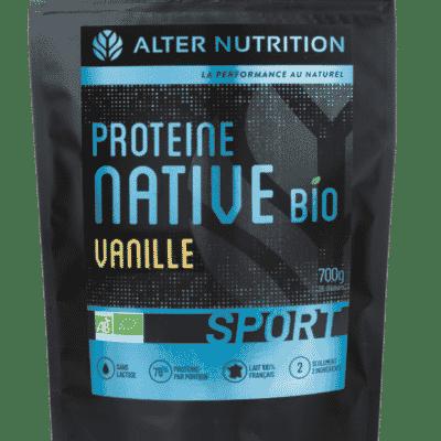 proteine native bio sans lactose vanille