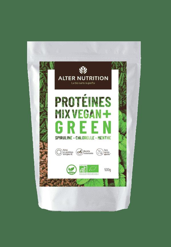 Protéines-Mix-vegan-bio-Green-spiruline-chlorelle-menthe-bio-image-produit