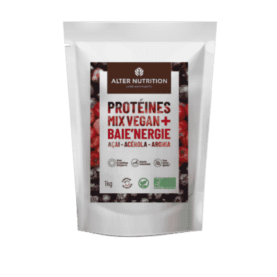 Protéines Mix vegan bio Baie'nergie açai acérola aronia