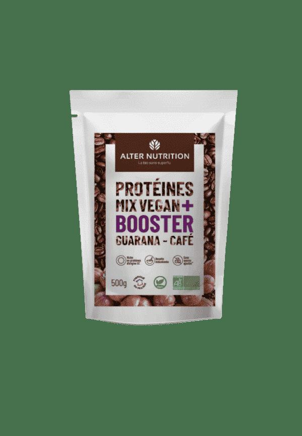 Protéines Mix vegan bio Booster guarana café
