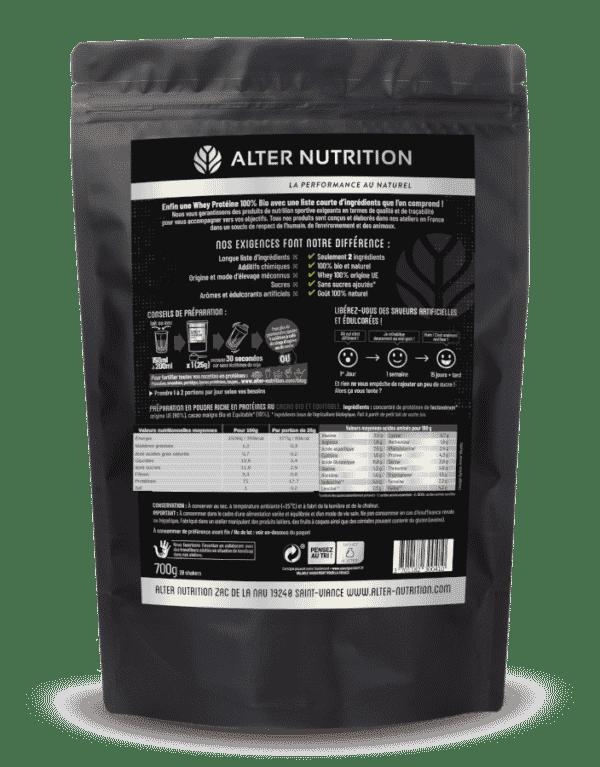Whey proteine native bio cacao