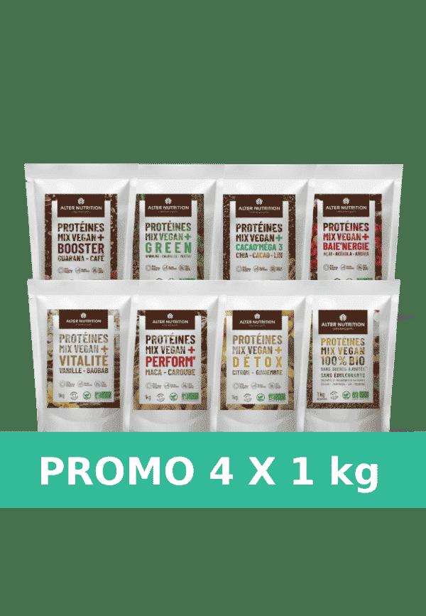 Pack promo 4 sachets de 1kg mix vegan bio