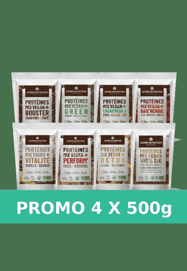 Pack promo 4 sachets de 500g mix vegan bio