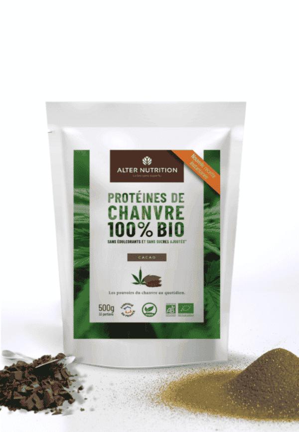 Protéines de chanvre bio cacao