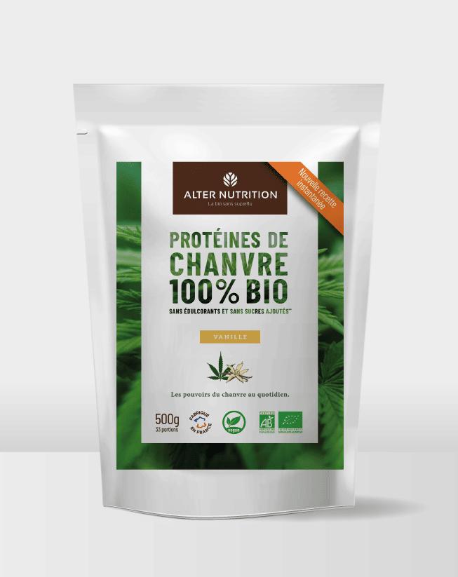 Protéines de chanvre bio vanille