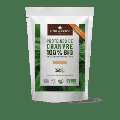 protéines de chanvre vanille recto 500g