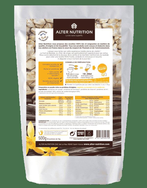 proteine mix vegan bio vitalite verso